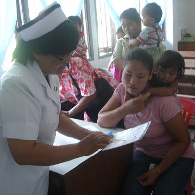 TCDF Medical Care project in cooperation with local hospitals.